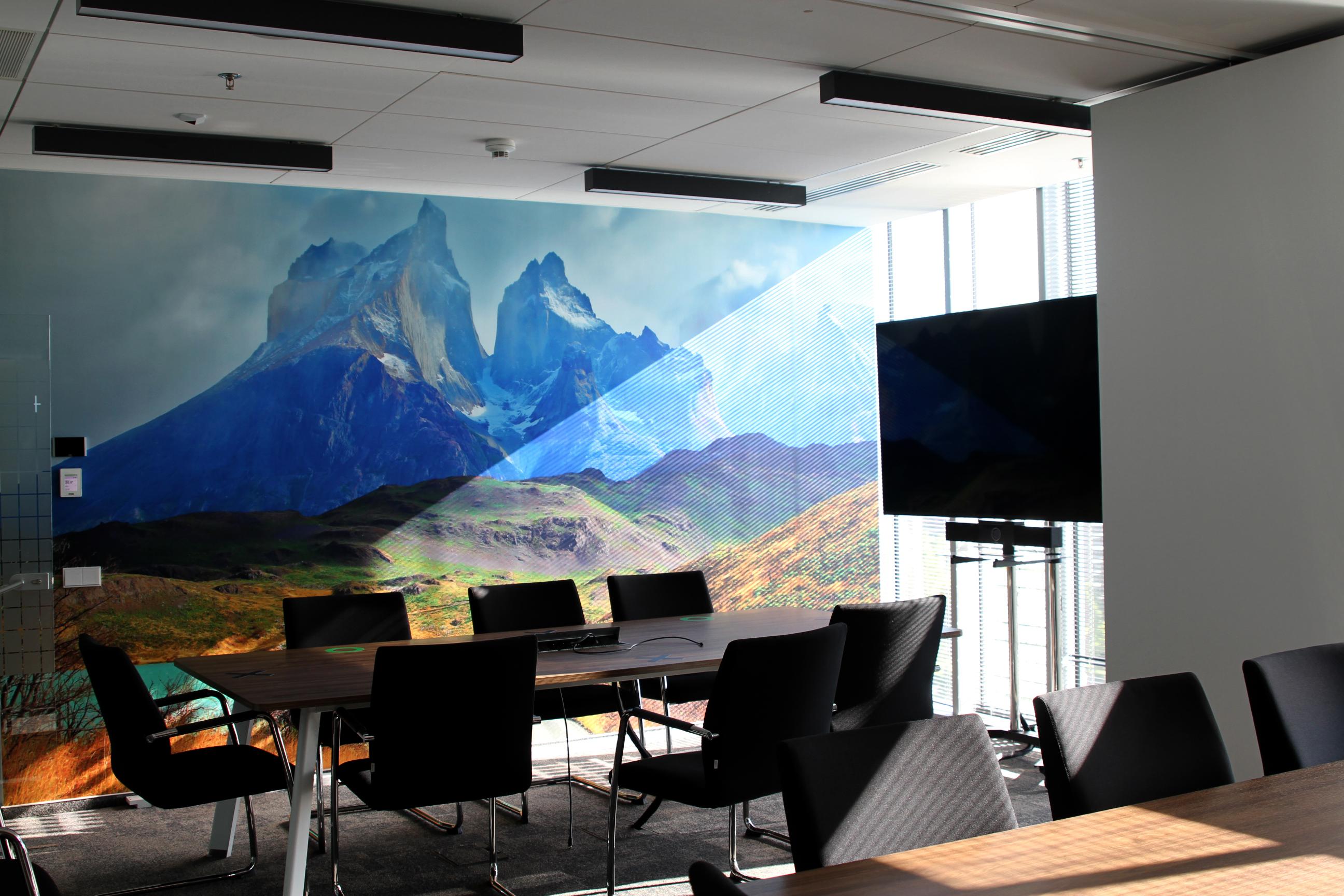 Sala konferencyjna w BNP Paribas Leasing Solutions - motyw krajobrazu